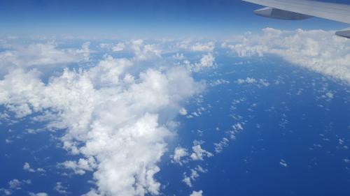飛行機から見るこの景色が本当に大好きです!
