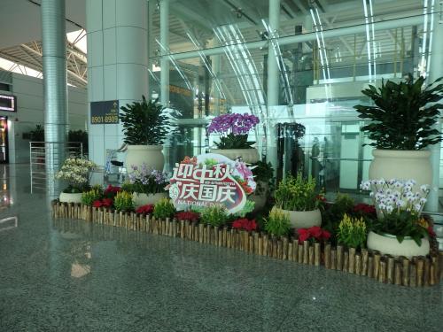 この時期中国は国慶節。このようなディスプレイがあちこちにありました。