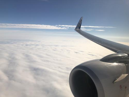 この雲の下がイエローナイフ付近にある大きな湖の上。<br />こんなに雲が厚いとこれからの天気が。<br />毎日晴れて毎日オーロラを見たいとこの時は願うばかり。