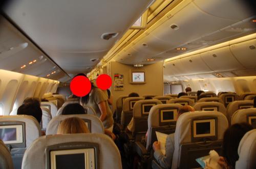 飛行機の中はこんな感じ。