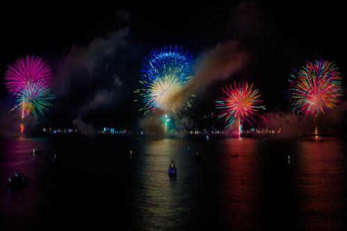 熊野大花火開催です。