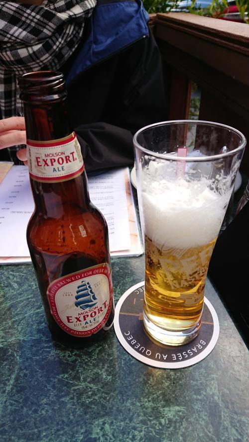 てことで、昼からビールいっちゃいましたー!<br />店員さんもめちゃめちゃイケメン!
