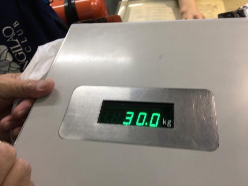 焼酎とかを入れてるのでなんと30キロの制限ぎりぎり!減量をパスしたような感じでした(^^♪