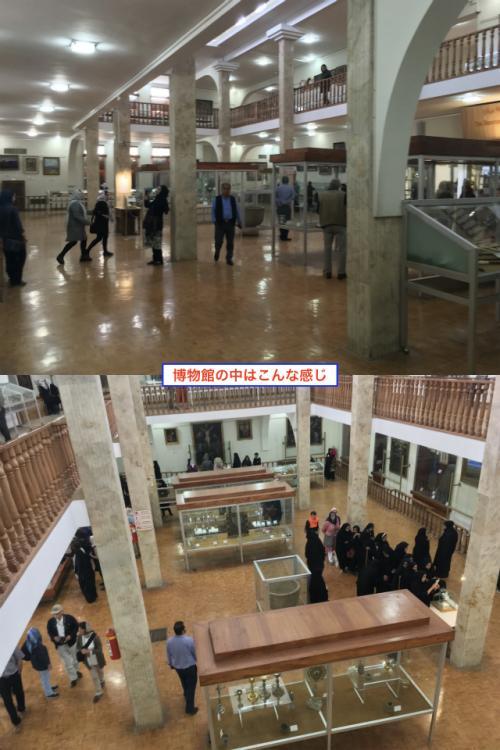 博物館内部はこんな感じ。 大聖堂より広いんぢゃね?というぐらいの吹き抜け2階建構造。 <br />