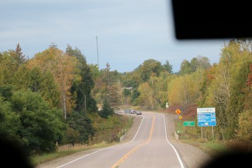 公園に向かうに従って、途中の木々が徐々に紅葉してきています。