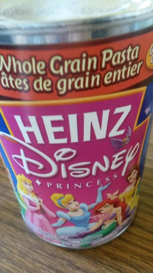 娘がとびついた、缶詰のパスタww