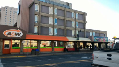 それでは、イエローナイフの街歩きにむかいます。<br /><br />中心部にA&W