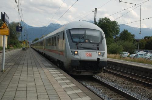 ICE柄の列車も走っている。