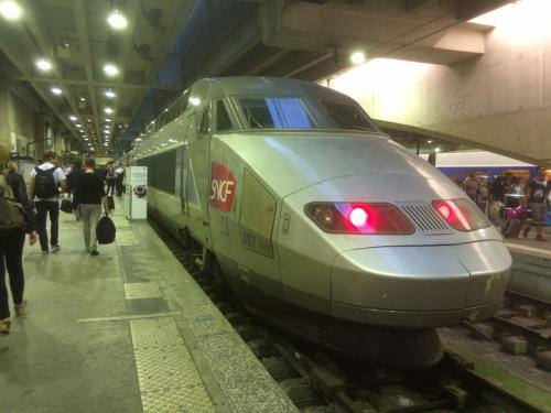 TGVでボルドーからパリへ。<br /><br />写真は旧型車両ですが、2017年7月にパリ~ボルドー間のTGV新線が開通、<br />車両も新しくなり、走行時間も短くなりました。<br /><br />乗ってみたいですね。
