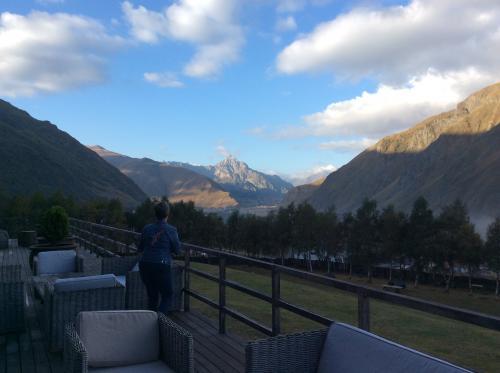 左方向の山は綺麗に見えます