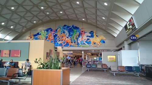 カルガリーの空港<br />オリンピックの名残があります。