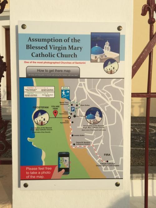 ☆Greece-Santorini-Firostefani★<br /><br />「フィロステファニ」<br />有名な青屋根の教会。なかなかわかりにくいけど、海沿いのメイン通りを歩いてると案内の看板がある。ここは見逃さないように訪れたい。