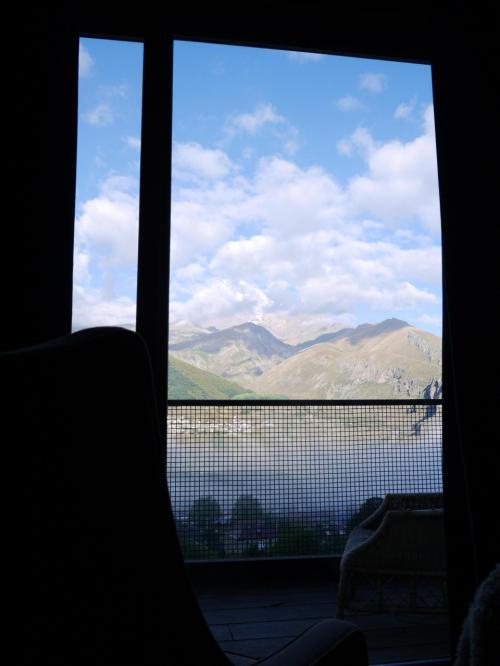 部屋で一番景色が良かった日の写真がこれ