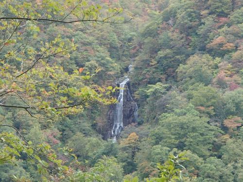 途中で立ち寄った滝見台からの景色。
