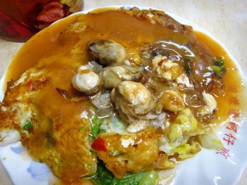 大好物の牡蠣オムレツ=オーチェン、70元。<br />美味しすぎる~(≧▽≦)♪