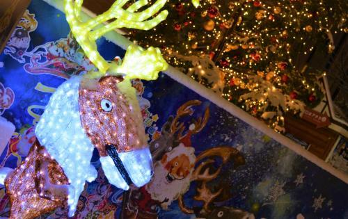 ☆大通2丁目会場<br />ミュンヘン・クリスマス市で<br />出番を待つトナカイくん。<br />君はちょっと、いや、だいぶコワイ。