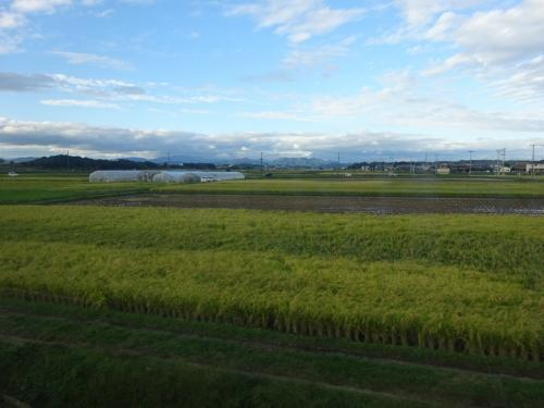 沿線は、基本的に田園風景である。