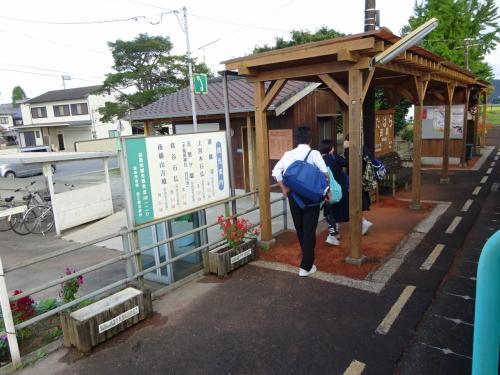 この駅も比較的最近に建て直された。