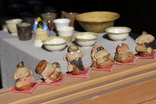 陶製の七福神。