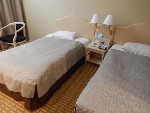 成田の宿泊ホテルは<br />ホテル日航成田<br />部屋はごく普通