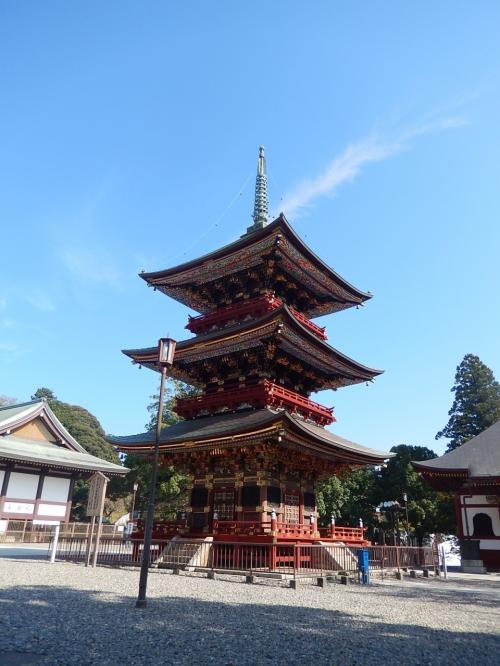 三重塔<br />彫刻がとても綺麗