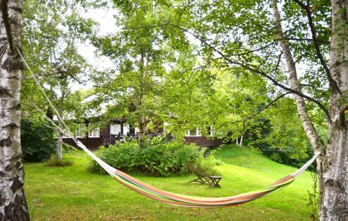 ハンモックまでありました。<br /><br />木に吊るされたハンモックに初めて寝てみましたが、想像していたよりずっと安定感があり、めちゃくちゃ寝心地がよかった~♪