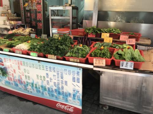 野菜と価格が示され、どの店も同じ価格ですので安心かと。