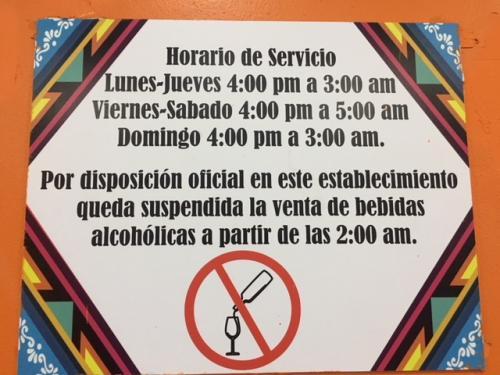 営業時間は、16:00から深夜3:00まで。<br />週末、金曜と土曜は16:00から深夜5:00まで営業しています。<br /><br />深夜2:00以降はお酒は提供してくれませんので、ご注意ください。<br />パストールはビールと相性が良いので、一杯やりに行くなら深夜2:00前にしましょう(笑)<br /><br />というか、そんな時間に観光客の方は行かないか(苦笑)