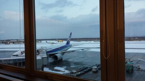 駐機している飛行機も真下に見えます。