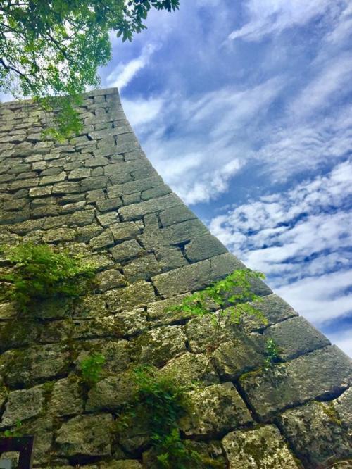 石垣の曲線が美しい!