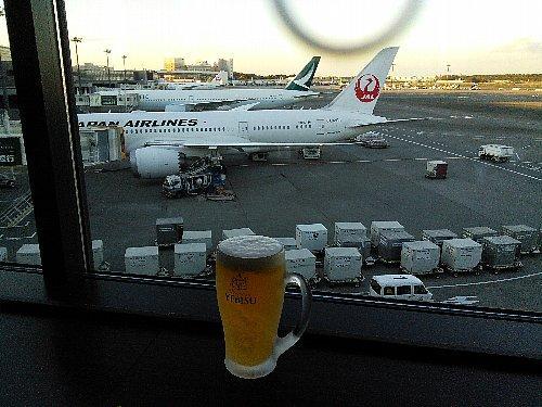 出発前に一人でビール