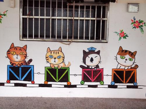 壁にも猫ちゃん