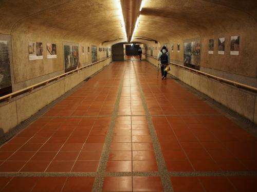 そういえば瑞芳の後站には行ってなかった<br /><br />行ってみよう<br /><br />地下道を歩きますが人が少なくてちょっと怖いね<br /><br />若い女の子が1人で歩いているとおばちゃん心配になっちゃうよ