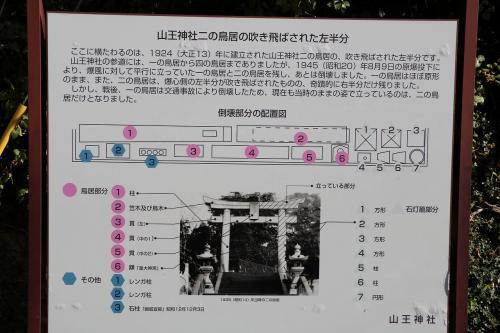 一本鳥居の案内板がこれで、残りの鳥居はばらばらになってそばの地面に置かれています。