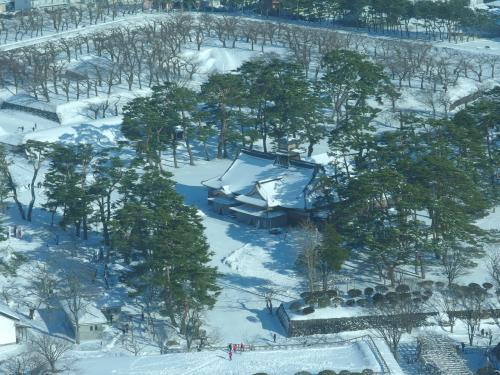 五稜郭の中心部に函館奉行所がありました。