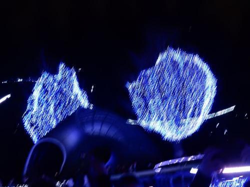 ミッドタウンガーデンはブルーに染まっています