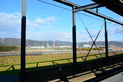 今年最初の樟葉駅からの風景<br />いい天気です!