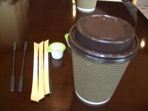 食後のコーヒー!持ち帰り用で150円!