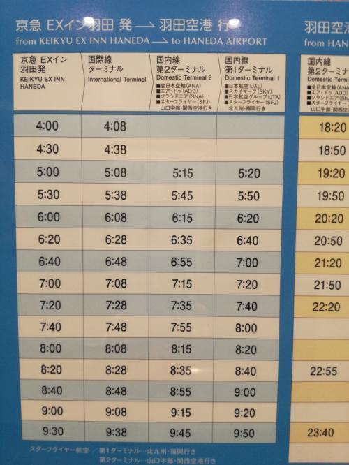 エレベーターにバス時刻表もあります。<br />部屋のテレビでも確認できます。