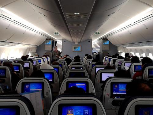 いつもの様にANAラウンジで、おにぎり、海苔巻きなどをいただき、小一時間ほどゆっくりしたらもう搭乗です。<br />さすが正月!機内は満席状態。<br />離陸も混んでいるようで、なかなか飛び立ちません。<br />この前、タイ旅行に持っていったJVCノイズキャンセルヘッドホン(BOSEより安くて機内では十分)で、離陸前から映画を見てました。