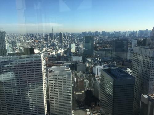 新宿駅を望みます。<br /><br />その先にはスカイツリーも見えます。