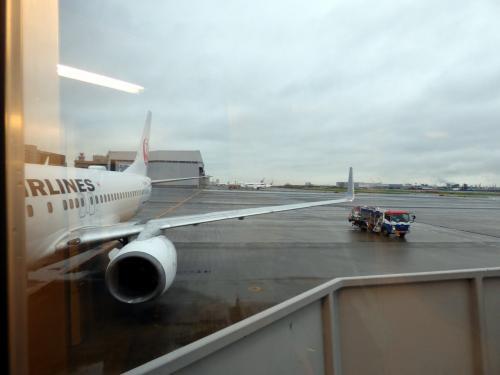 搭乗直前にパチリ <br /><br />この日広島までお世話になるボーイング737-800(JA307J)