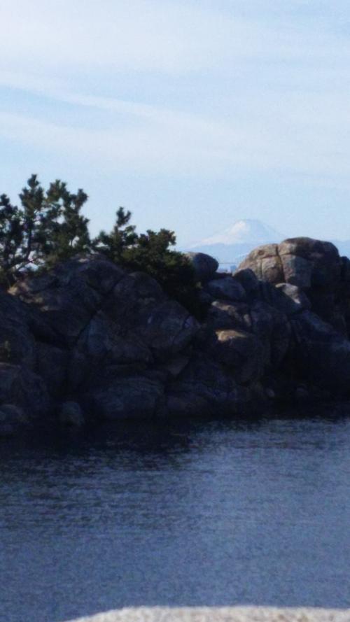 ポートディスカバリーからは富士山もうっすらと見えて。
