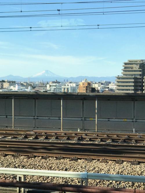 富士山が綺麗に観えました!何かラッキー。