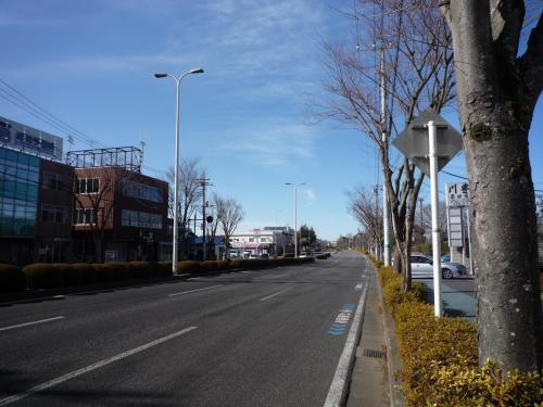 駐車場がありお店の前の通り