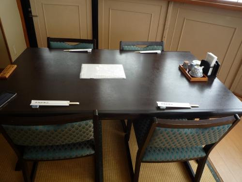 案内されたテーブル