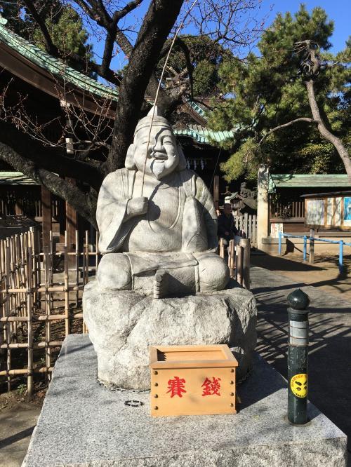 荏原神社の恵比寿様です。