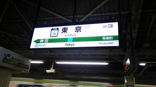 東京駅に着きました。