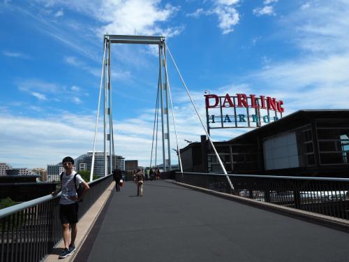 ダーリングハーバーは日本でゆう横浜的な場所。