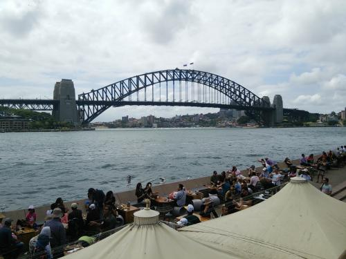 言わずと知れた、ハーバーブリッジ。歴史的に見て、シドニー市民に言わせると、オペラハウスよりもこちらがシドニーのシンボルだそうですね。
